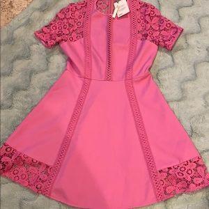ASOS pink lace dress. Size 6.